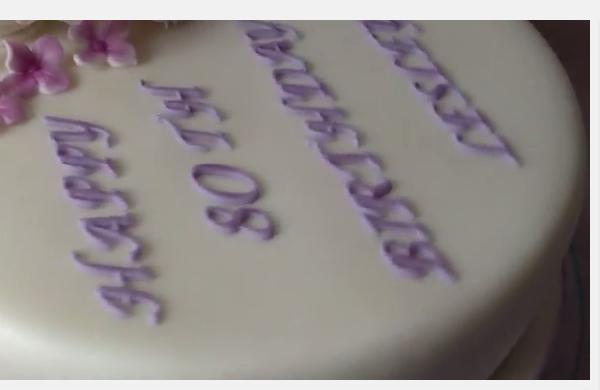 Rose 80th Birthday Cake