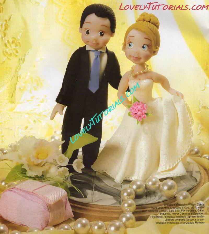 Groom & Bride wedding cake topper tutorial how to make