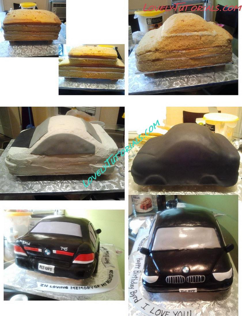 Carved 745 Bmw Car Cake Step By Step How To Make