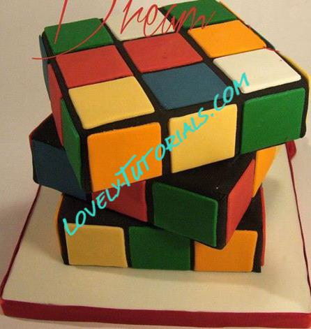 rubik s cube cake topper step by step how to make