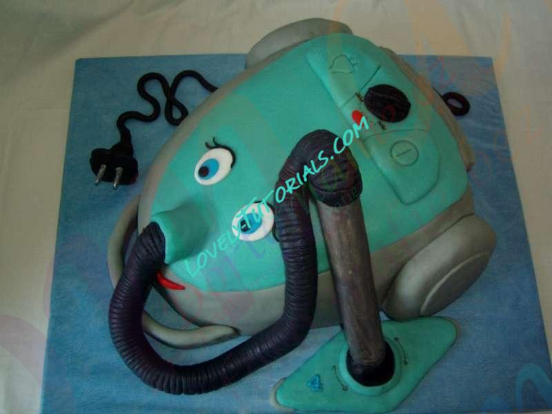 3d Vacuum Cleaner Cake Tutorial How To Make