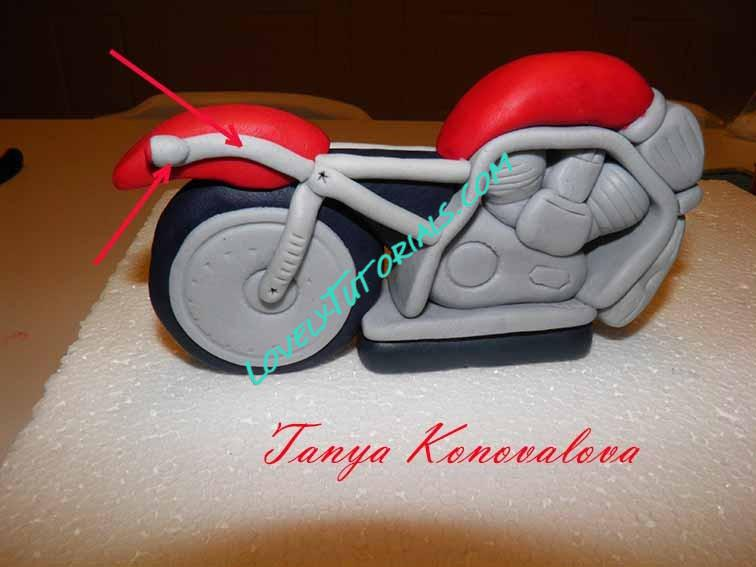 how to make a motorbike cake topper