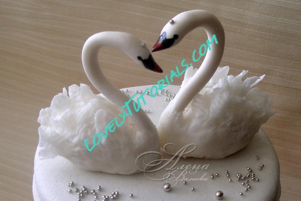 Как сделать лебедей на торт своими руками 42