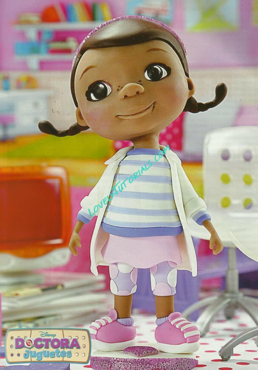 Doc McStuffins cake topper tutorial how to make
