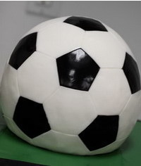 photo  Carved 3-D soccer-ball cake tutorial