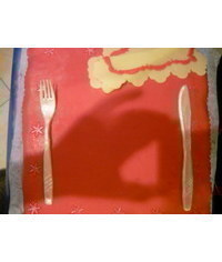 photo fork,knife,plate