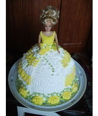 photo barbi cake,Barbie cake decorated with cream