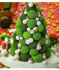 photo Gumpaste (fondant, polymer clay) Christmas trees making tutorials