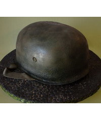 photo  Create texture of old military helmets.