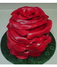 photo    How to Make a Rose Cake