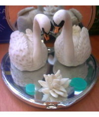 photo   Swan Wedding Cake Toppers(2)