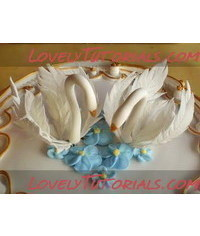 photo   Swan Wedding Cake Toppers(1)