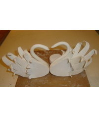 photo  Swan Wedding Cake Toppers(3)