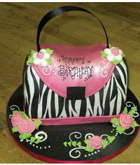 photo  Zebra Purse Cake