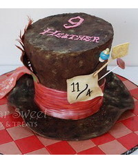 photo Mad Hatter Hat Cake