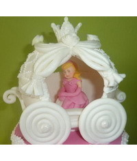 photo  how to make Cinderella's Carriage out of fondant