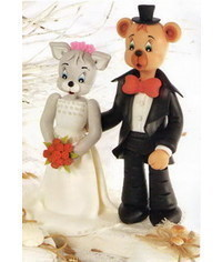 photo Groom & Bride wedding cake topper tutorial