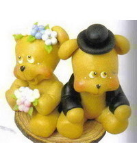 photo  Bears wedding cake topper tutorial