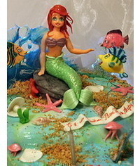 photo Gumpaste Ariel (The Little Mermaid), Flounder, Sebastian tutorials