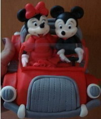 photo wedding couple Mickey and Minie Mouses tutorial