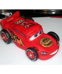 photo Gumpaste lightning mcqueen car making how to