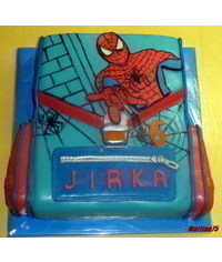 photo  spider man school bag cake tutorial