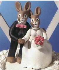 photo зайчики -wedding bunny figurines tutorial