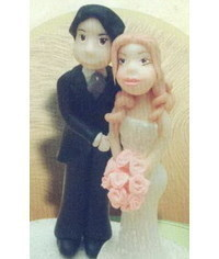 photo how to make bride's figurine