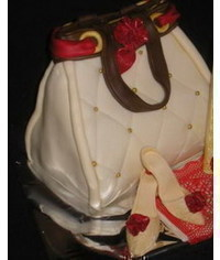 photo 3D handbag cake tutorial