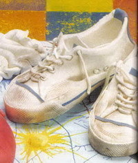photo  gumpaste running shoes tutorial with template