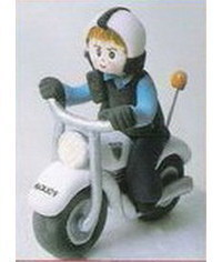 photo  how to make 3D fondant gumpaste motorcycle
