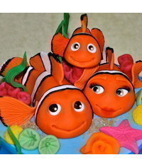 photo gumpaste Nemo tutorial