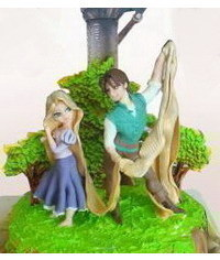 photo Gumpaste (fondant, polymer clay) Princess Rapunzel making tutorials