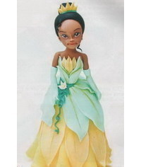 photo  How to make a gumpaste princess Tiana