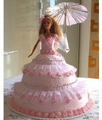 photo Barbie doll cake tutorial