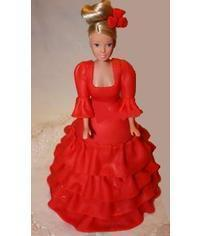 photo doll cake in flamenco dress tutorial