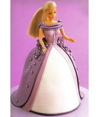 photo  Barbie doll cake step by step