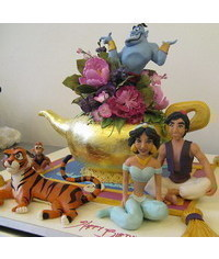 photo Aladdin, Jasmine, Iago, Genie, Abu figure making tutorials