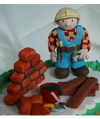 photo  строитель -Gumpaste Bob the Builder Tutorial
