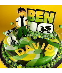 photo Gumpaste (fondant) Ben 10 figure sculpting tutorial