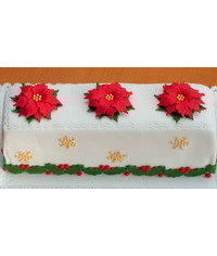 photo   Christmas theme cake with Poinsettias