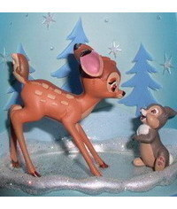 photo  Gumpaste (fondant) -bambi characters making tutorials
