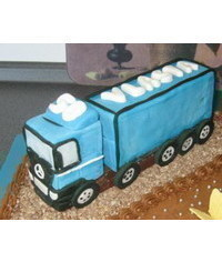 photo Camion cake topper how to