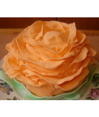 photo Carved rose cake tutorial