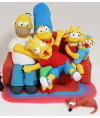 photo  Gumpaste (fondant) The Simpson family characters tutorials