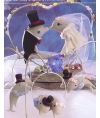 photo Dolphins Wedding Cake Topper Tutorial