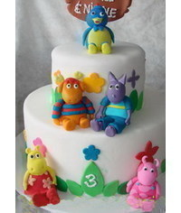 photo  Gumpaste (fondant, polymer clay) The Backyardigans figures making tutorials