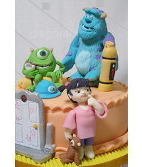 photo  Gumpaste (fondant, polymer clay) Monsters, Inc characters making tutorials