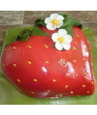photo strawberry cake tutorial