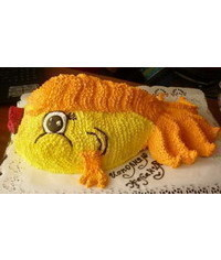 photo Buttercream 3D goldfish cake tutorial